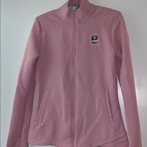 Adidas zip up jacket pink size small US Open golf
